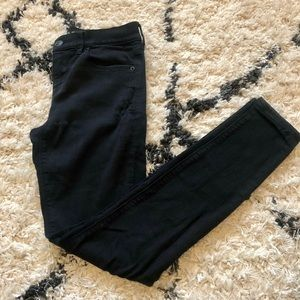 Size 2 Express Black Legging Mid-Rise Denim